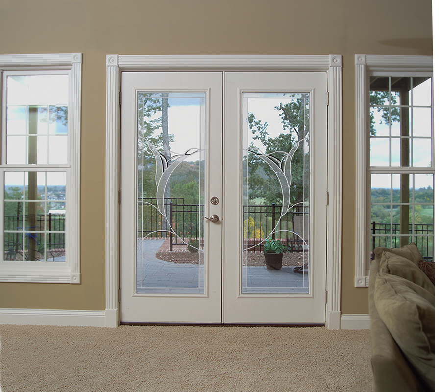 Doors laird glass upholstery for Double doors with glass